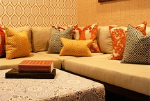 patterned ottomans