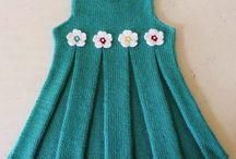 örgü elbise (kız çocuk)