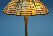 Tiffany Lamp and stained glass windows