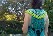 Green garden flower mandala vest long tailed festival top