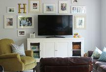 Fireplace, flatscreen and built-ins! / by Lisa Martin