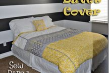 yellow + gray (old plan for master bedroom)