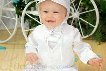 Boys Christening Suit with Diamond Style Vest / Diamond design vest , satin polyester. Includes bonnet, plants, shirt, bowtie and vest http://www.christian-baby.com/