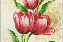 Haft Krzyżykowy - Tulipany