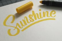 Hand Lettering / Lettering and hand drawn fonts