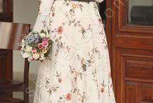 Fiyonklu Volan Kol Tesettür Elbise / tesettür giyim, tesettür elbise, volanlı elbise