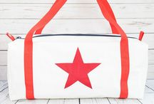 Upcycled Sailcloth Flight Bags