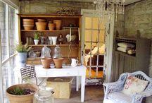 Greenhouses/potting sheds/cold frames / by Jan