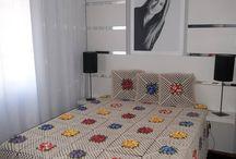 Renkli Çiçekli yatak örtüsü