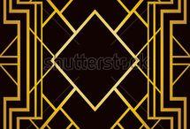 Art Deco Patterns / Geometric patterns in art deco style