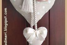 materiałowe serca