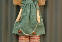 Bonecas de pano primitivas
