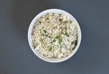 Step 1 - It's All About That Base / The first step at Mezeh is to choose your base: -Basmati Rice Bowl -Pita Pocket -Salad