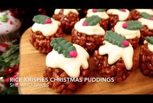 Rice Krispy puddings