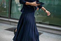 Skirt long blue Michael kors