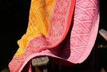 Blanket Bliss / Hand Made Sari Cotton Blankets, one of kind, soft and vintage feeling, like an adult baby blanket