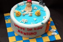 Baby bath time birthday cake idea / Too cute to eat