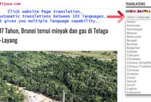 Use our Web Page Translations, for your own convenience by using third party translation software...
