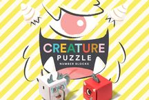 Creature Puzzle Number Blocks