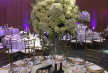Greek white wedding / Beautiful, White wedding Manchester at the Hilton Manchester with white roses white hydrangea and snapdragon flowers with a touch of trailing ivy foliage and some simple gold tealights