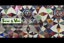 Quilting/Sewing Class Inspiration / What's going on in the Pocono Sew and Vac classrooms!