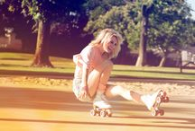 I was on my rollerblades ,Rolling on moving on>3 / by Teia Lima
