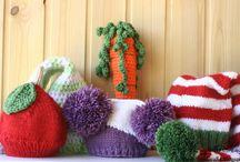 Вязанные шапки для фотосессии / Работы на заказ Мансуровой Лилии