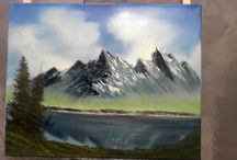 BOB ROSS WET ON WET / by Mark Hall