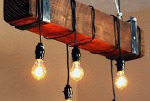 Drivved taklampe
