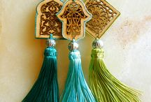 tassels and pom pom / hand made tassels