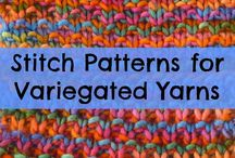 Knitting Patterns for Variegated Yarn / Knitting, knitting patterns, shawl knitting patterns, knitting patterns for variegated yarn, variegated yarn knitting patterns.