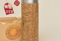 Personalized Thermos, Bamboo Wood Engraving