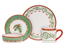 Christmas dishes / I am obsessed with Christmas dinnerware / by Maureen Hess