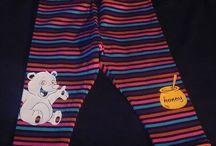 Jerseyhosen für Babies / Babyhose Spielhose Krabbelhose Kirschkind Jersey gestreift