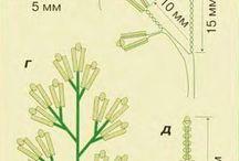 el yapımı Boncuklu çiçek
