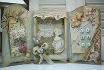 Shadowboxes and Altered Tins / Images, Layers and Textures, love them....