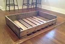 Muebles con rack y palets