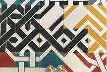 """Azulejos de Cemento COMBINABLES / La colección """"Les Petites Combines"""", bajo el principio de """"combinación absoluta"""" se hace azulejo, para poderla disfrutar en suelos y paredes"""