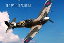 Flying Experiences / We offer the Ultimate Flying Experiences - Fly with the Spitfire and Fly with the Hurricane - Call Action Stations now to find out more 01227 721929