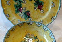 Set Piatto + Ciotola decorato a mano.Decorazione Fragole, by ilciliegio, 30,00 € su misshobby.com