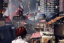 Futuristic city / Scifi
