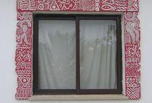 janelas de pedra / molduras de janelas em pedra