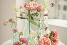 Flowers in jars & vases