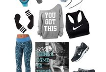 Workout clothes and shoes