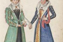 St. Ives Middle Class portraits and woodcuts, extant garments, effigies / Period art depicting English Renaissance craftsmen/women and merchant class. Also extant garments, effigies, etc.