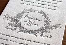 {invitation design} christine / by Invitations by Ajalon