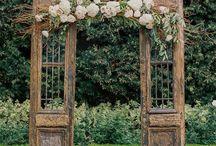 Drzwi i Tablice Vinatge Wedding