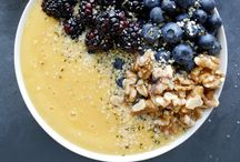 Bowled Over / smoothie bowls with fruits, seeds, nuts - getting healthy