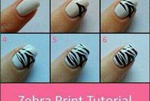 Zebra nagels