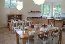 "Our Kitchen / ""In a comfortable, stress-free environment we hope to inspire people in their every day lives, to put good food on the table"". Farmhouse Kitchen cooking school is a family-run venture, and we all look forward to welcoming you to experience hands-on cooking classes in our new custom-built kitchen."